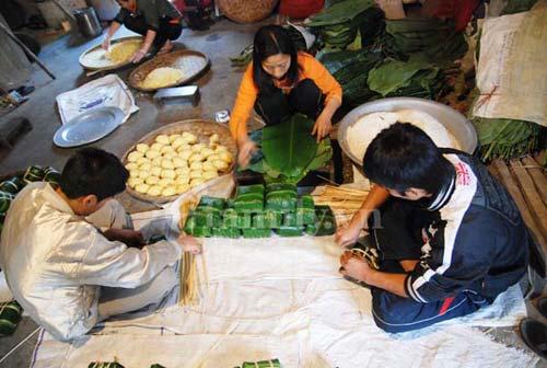 Bánh chưng làng Đầm Hà Nam