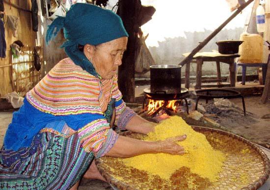 Bột ngô hấp cơm Lào Cai