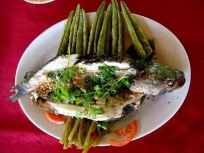 Cá lóc nướng trộn Tam Kỳ