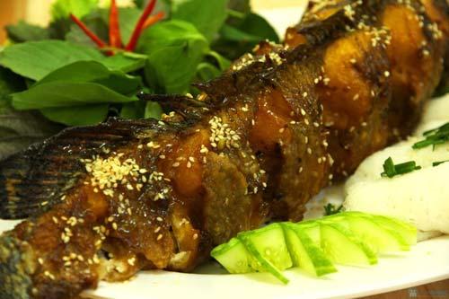Cá lóc quay Ninh Thuận
