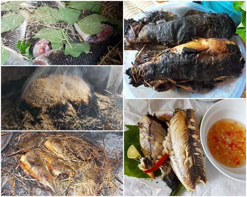 Cá nướng rơm mùa gặt Ninh Bình
