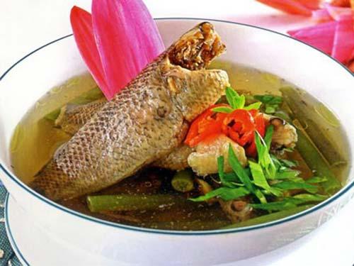 Canh chua Cá Rô Ninh Bình