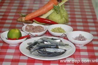 Chả cuốn cá trích Bình Thuận