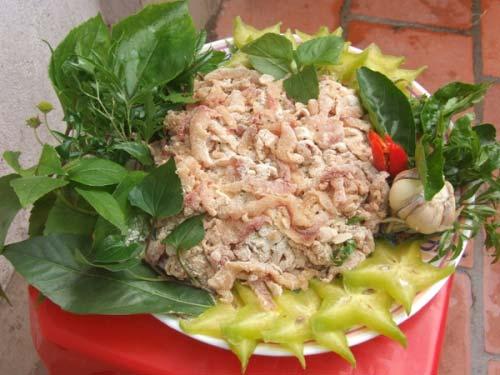 Gỏi cá nhệch Ninh Bình