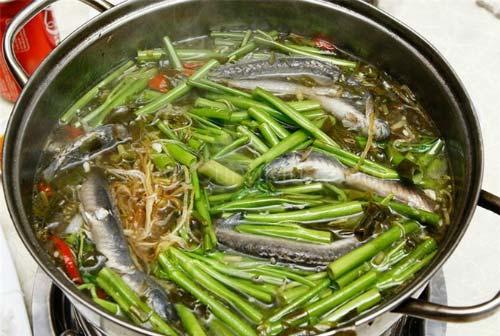 Lẩu cá kèo lá giang Sài Gòn