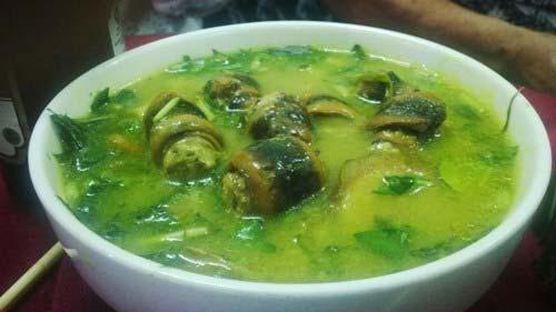 Lươn bung chuối xanh Thanh Hóa