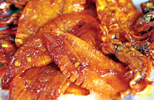 Mực rim nướng Bình Định