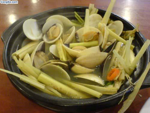 Nghêu hấp sả Bình Thuận