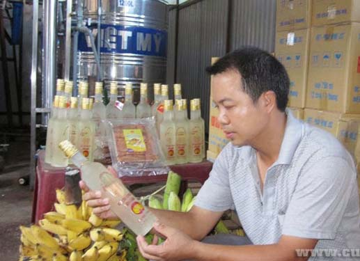 Rượu chuối Yên Châu