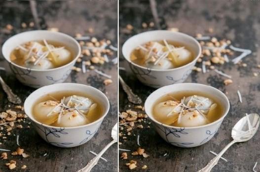 Công thức làm bánh trôi nước nhân đậu xanh