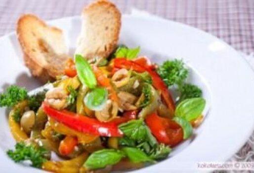Salad ớt chuông, ô liu