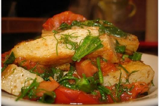 Chả cá thu sốt cà chua