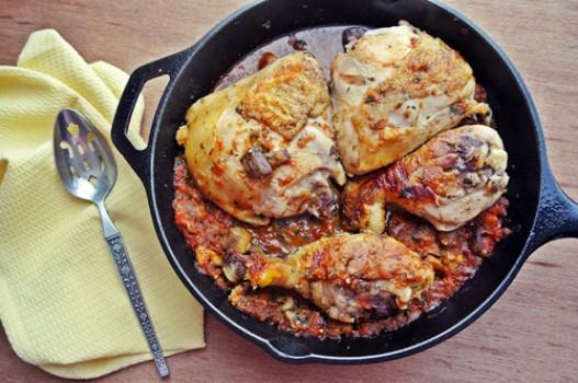 Đùi gà xốt nấm