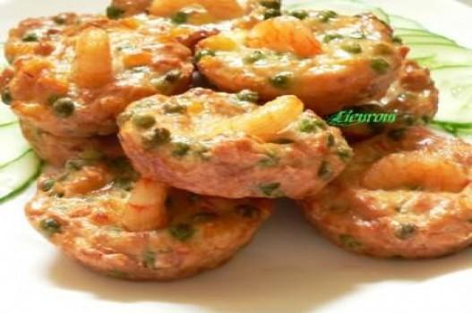 Bánh đậu tôm thịt chiên