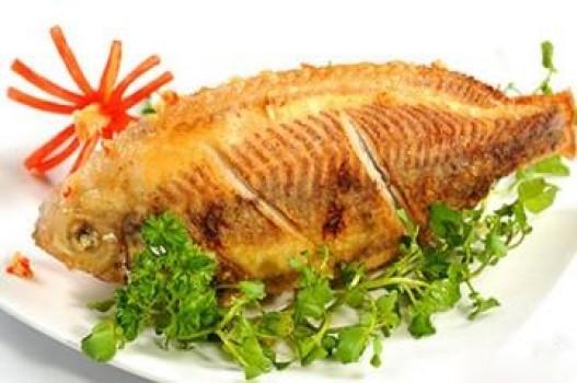 Cá điêu hồng chiên muối tỏi