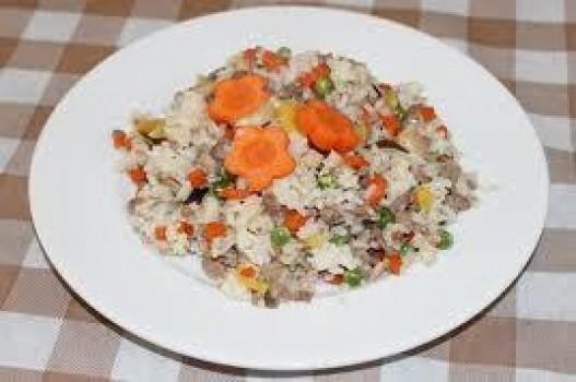 Cơm chiên nấm thịt bò