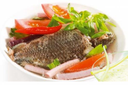 Ngó súng nấu cá rô đồng